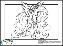 Small Picture princess celestia coloring pages