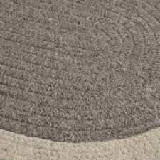 hudson dark gray wool braided rugs