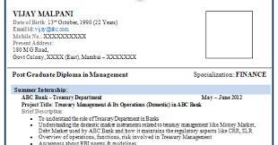 Mba Finance Fresher Resume Format Resume Template Easy Http