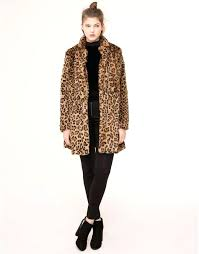 leopard faux fur coats