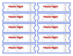 Ideas For Movie Night Ticket Template About Reference Printable