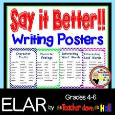 Writing Descriptive Writing Anchor Charts Set Of 4