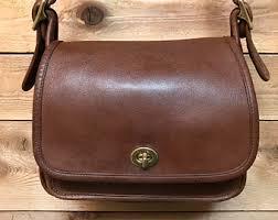 Vintage Coach Legacy Rambler Medium Brown Leather Crossbody Bag 9061