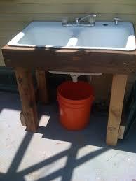 garden sink drain exterior outdoor sinks