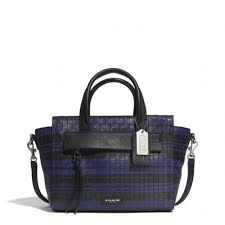 The Bleecker Mini Riley Carryall In Embossed Woven Leather from Coach