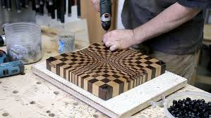 3d end grain cutting board plans. how to create an end grain wood cutting board with a remarkable 3-d optical illusion at the center 3d plans t