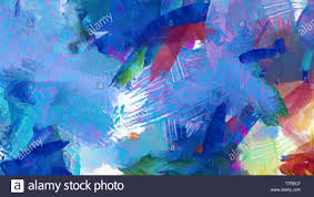 Arti Art Design Abstract Oil And Watercolor Mixed Fine Contemporary Art On