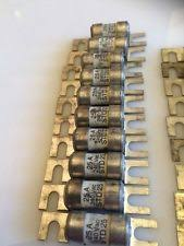 old fuse 10 x bussmann std25 25 amp 240 fuse links new old stock
