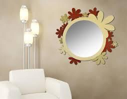 Pareti Bordeaux Immagini : Las specchio da parete design moderno originale color cammello