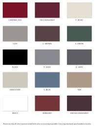 Central States Metal Color Chart Central States Color Chart 1l Ral Or Bs British