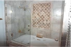 bathroom shower glass door ideas furniture gorgeous half glass shower door for bathtub elegant your sectional