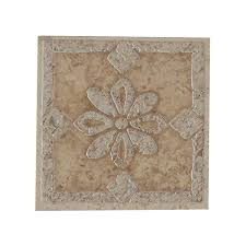 Decorative Ceramic Tile Inserts Porcelain Tile Deco 6060 X 6060 Porcelain Tile Flower Deco Tile 2