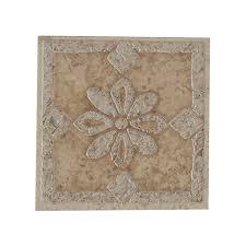 Decorative Ceramic Tile Inserts Porcelain Tile Deco 100100 X 100100 Porcelain Tile Flower Deco Tile Insert 2