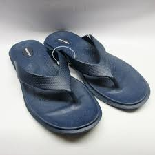 Okabashi Sandals Women Maui Flip Flops In Navy Cabaline
