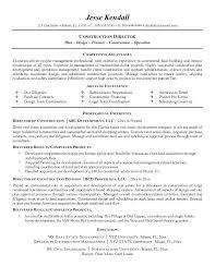 Construction Resume Example Resume Sample Format Best Best For