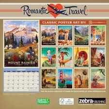Travel Calendar Romantic Travel Poster Art 2019 Wall Calendar Calendars Com