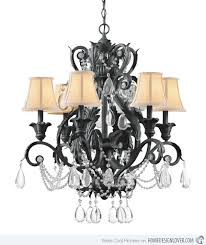 brilliant iron crystal chandelier lighting 20 wrought iron chandeliers home design lover