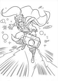 Small Picture Printable Thor Coloring Pages With glumme