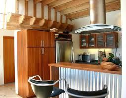 corrugated metal backsplash kitchen metal