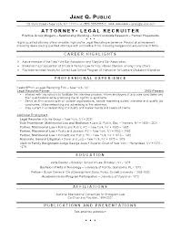 Law Resume Sample