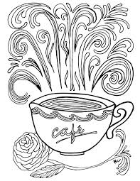 coffee coloring page. Unique Page Donu0027t You Just Love Complex Coloring Pages These Free Printable  Pages For Adults Come In A Coffee Theme Because Iu0027m Obsessed And Coffee Coloring Page F