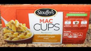 stouffer s mac cups cheeseburger mac food review