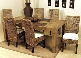 amazing rattan dining chairs wicker parsons room how to repair