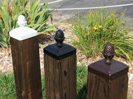 wood mailbox posts. Wrought Iron Pineapple Top Post Cap For 4x4 Wood / Composite Post, Gate, Fence Mailbox Posts