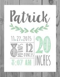 on etsy personalized baby wall art with customized baby birth print baby birth birth and babies
