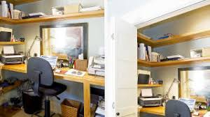 walk in closet office. Closet Offices Are Great Because They Stay Out Of Your Way And Still Provide You With A Nice, Organized Workspace. The Main Disadvantage, Obviously, Walk In Office K