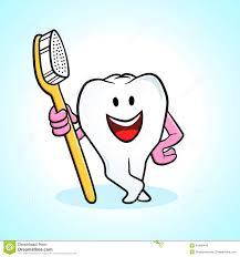 Dent Et Brosse Dents De Dessin Anim Illustration De Vecteur