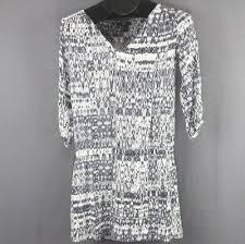 H&M Dress Size 2 Gray Watercolor Print <b>Womens</b> Career <b>Mini Drop</b> ...