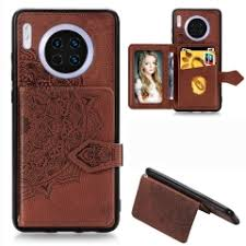 For Huawei Mate 30 Mandala Embossed Magnetic Cloth ... - SUNSKY