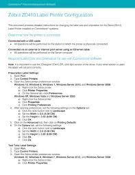Drivers zebra setup utilities for windows. Zebra Zd410 Label Printer Configuration Manualzz