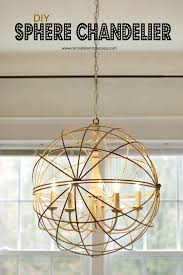 sphere chandelier for the dining room remodelando la casa pertaining to diy orb decorations 14