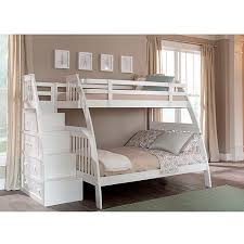 Canwood Ridgeline Twin over Full Bunk Bed with Built in Stairs Drawers  White