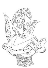 Small Picture Disney Coloring Pages Alice in Wonderland printable copics