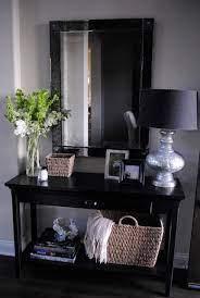 entryway table decor entryway