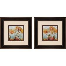 refresh the decor with this set of two square framed autumn landscape wall art pieces  on set of two framed wall art with refresh the decor with this set of two square framed autumn