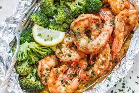 Baked Shrimp in Foil Packs Recipe with ...
