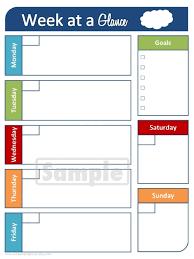 Week At A Glance Printable Calendar » Calendar Template 2017