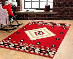 hunting lodge area rugs southwestern rustic modern red maple home cabin decor area rugs