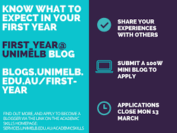 first year unimelb an online journal of the first year experience be quick applications close monday 13 2017