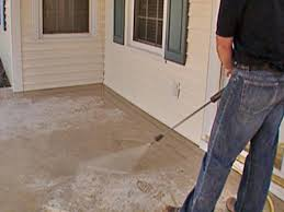 Concrete Wood Floor How To Stamp A Concrete Porch Floor How Tos Diy
