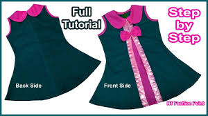 Diy Designer Baby Frock Cutting And Stitching Full Tutorial Pinterest
