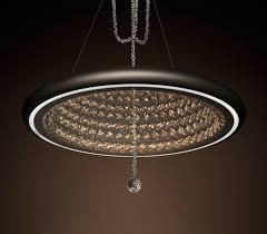swarovski s new futuristic infinite aura chandelier is app controlled chandeliers