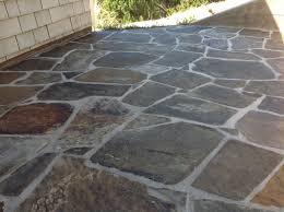 slate stripped sealed slate tiles natural cleanest slate patio transformed