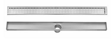 stainless steel linear drain for shower 24 to 48 inch