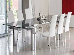 Modern Glass Dining Tables For High Top Room Glamorous Contemporary
