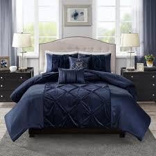 5pc queen sondra velvet comforter set